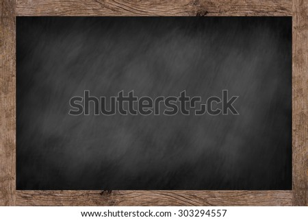 empty chalk board background texture for menu restaurant design ornament with old vintage wooden frame,blackboard concept.advertising/decorate/drawing order/idea or product on this display picture. - stock photo