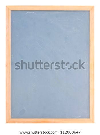Empty chalk board isolated on white - stock photo