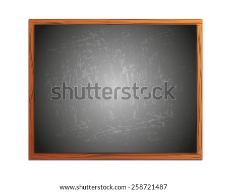 Empty chalkboard background with frame - stock photo