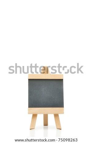 Empty chalkboard on a white background - stock photo