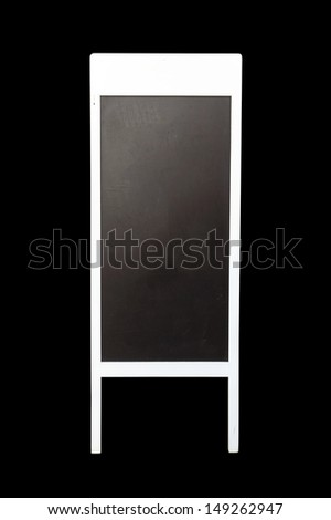empty chalkboard on black background (with clipping path) - stock photo