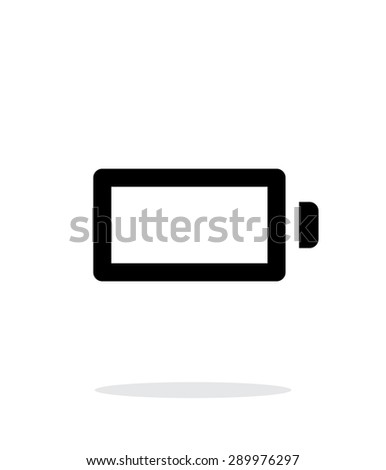 Empty charge battery simple icon on white background. - stock photo