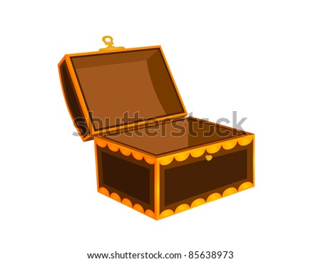 Empty Chest / Trunk Illustration - High Resolution JPEG Version (vector version also available). - stock photo