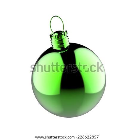 Empty Christmas ornament - stock photo
