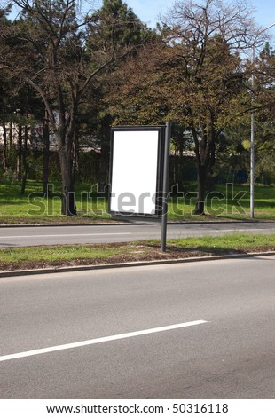 empty city light for your ad on the road - stock photo