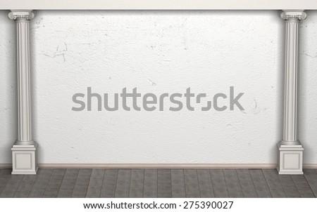 Empty Classic Room - stock photo
