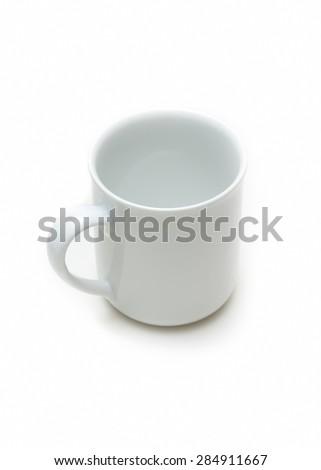 Empty Coffe Mug Isolated On White Background - stock photo