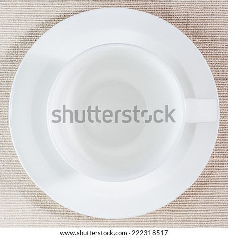 Empty coffee cup, top view - stock photo