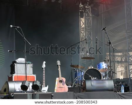 Empty concert stage - stock photo