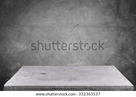 Empty concrete table top on grunge concrete background, Template mock up for display of your product - stock photo
