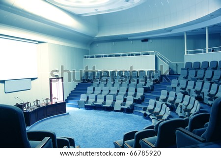 Empty conference hall - stock photo