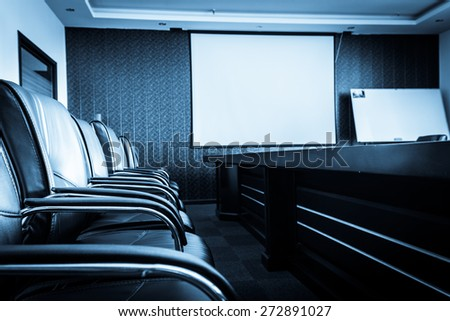 Empty conference room - stock photo