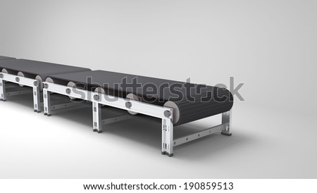 empty conveyor belt  for use in presentations, manuals, design, etc. - stock photo
