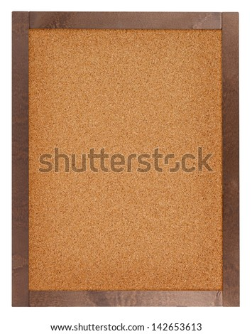 Empty cork board isolated on white - stock photo