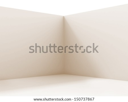 Empty corner in the room - stock photo