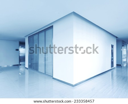 empty corridor in the hospital - stock photo