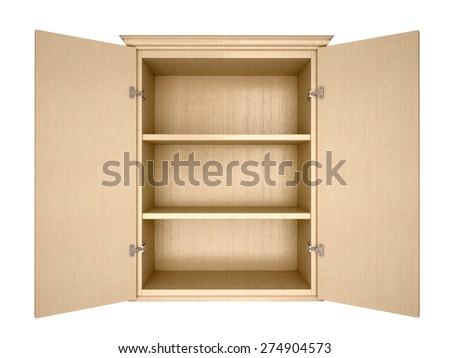 empty cupboard - stock photo