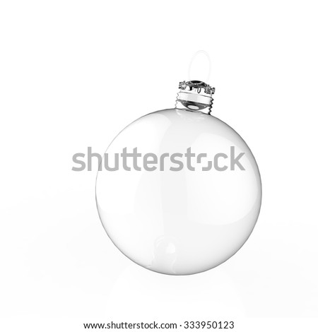 Empty 3d Christmas ornament on white background - stock photo