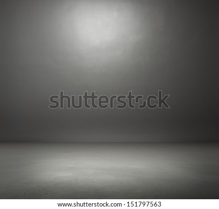 empty dark grey room - stock photo