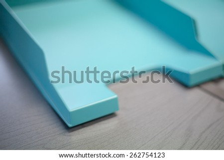 Empty document tray - stock photo