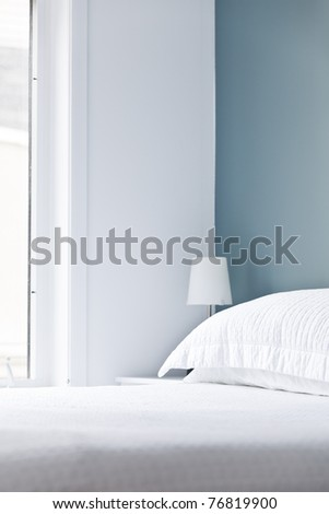 Empty domestic bed - stock photo