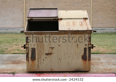 Empty Dumpster - stock photo
