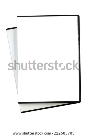 empty DVD case - stock photo