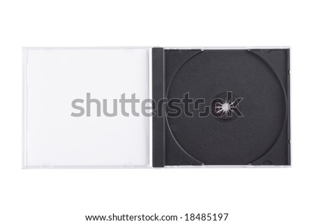 Empty DVD case isolated on a white background - stock photo