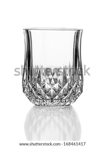 empty elegant glass isolated on white background - stock photo
