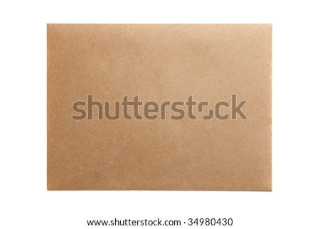 Empty envelope blank isolated on white background - stock photo