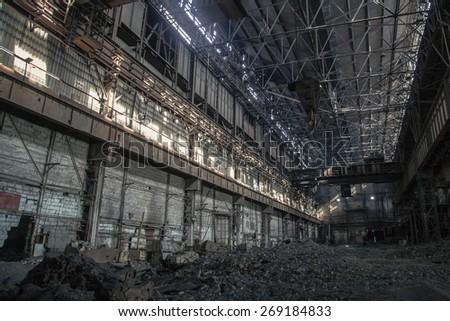 Empty factory - stock photo
