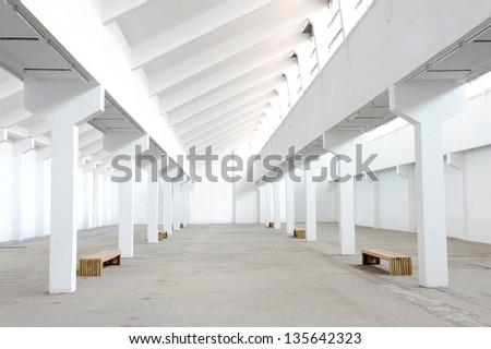Empty factory workshop - stock photo