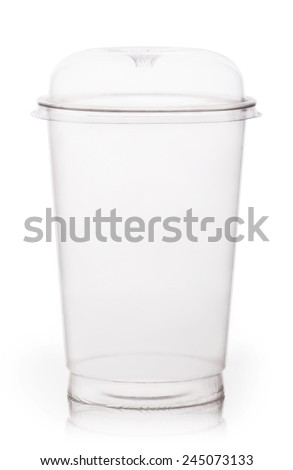 Empty fast food cup isolated on white background - stock photo