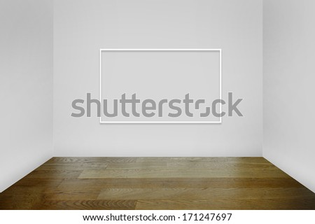 Empty frame at a gallery - stock photo