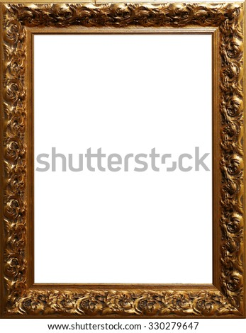 Empty frame with white inside - stock photo