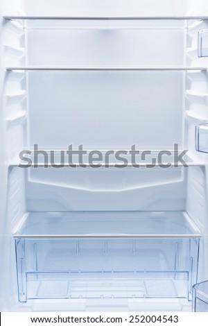 empty fridge - stock photo