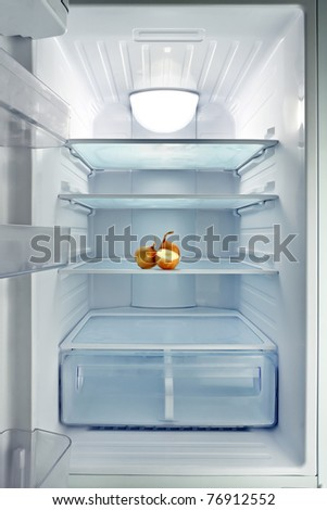 empty fridge - stock photo