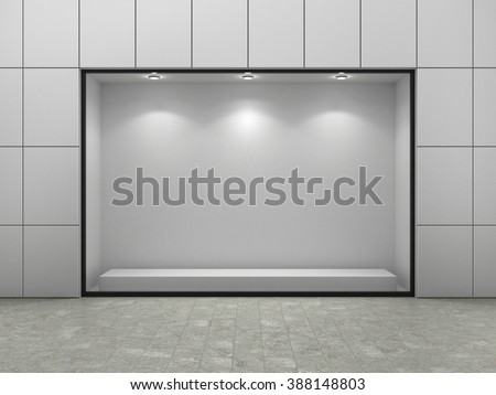 Empty ftorefront of shop. - stock photo