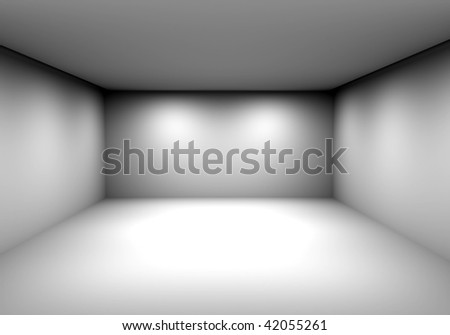 Empty gallery - stock photo