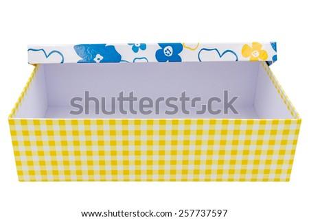 empty gift box on white background - stock photo