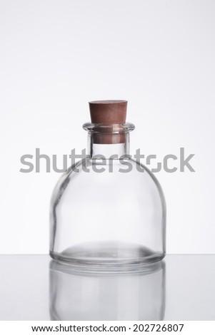 empty glass bottle - stock photo