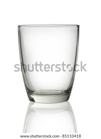 Empty glass isolated - stock photo