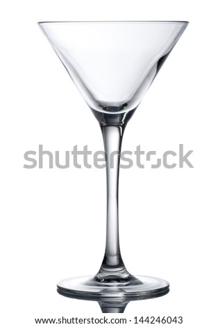 Empty glass isolated on white - stock photo