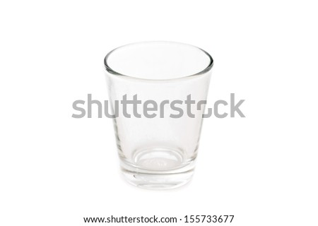 empty glass of water isolated on white - stock photo