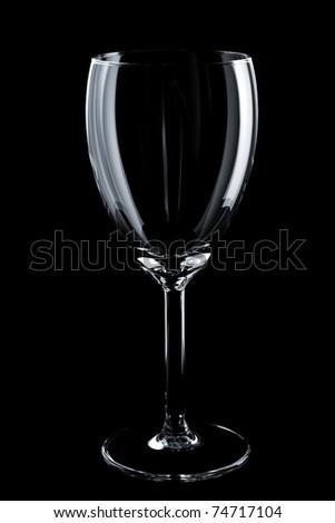 Empty glass on the black background - stock photo