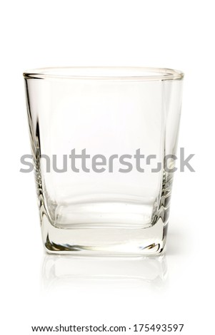 empty glass on white background - stock photo