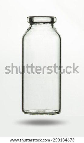 Empty glass vial for chemical or medical substance - stock photo