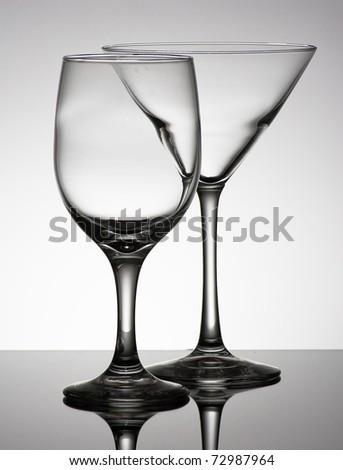 Empty Glasses - stock photo