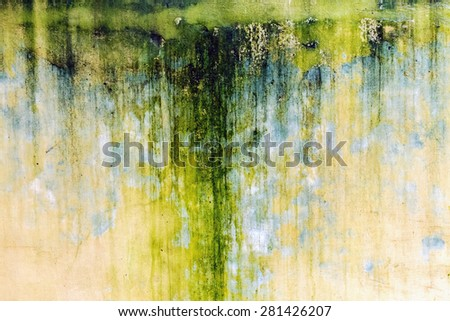 empty green yellow wall stone texture old background - stock photo