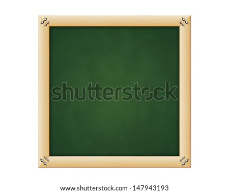 empty greenboard with wooden frame - stock photo